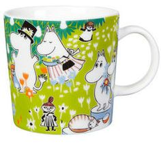 The adorable Tove 100 moomin mug 2014 from Finnish Arabia is a tribute to the famous author and illustrator Tove Jansson. In 2014 the the moomin charachters mother would have turned 100 years and the jubilee mug has its inspiration from Tove Janssons book Moomin Shop, Moomin Mugs, Tove Jansson, Centenario, Posca, My Collection, Finland, The Book, Original Artwork
