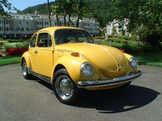 My first car - VW Super Beetle Vw Super Beetle, Beetle Bug, Vw Beetles, Volkswagen, Vw Bus, Vw Camper, Bug Car, Mellow Yellow, Bright Yellow