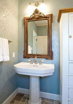 Bathroom Mirrors Houston Tx powder bathdesign house - houston, tx. wood panel walls, wood