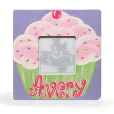 Girls Personalized CupCake Photo Frame