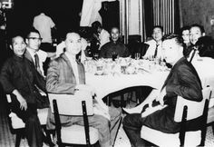 ~Out to Dinner - Jiu Wan (far left), Ip Man (center), & Others~
