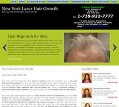 Website design for New York Laser Hair Regrowth....