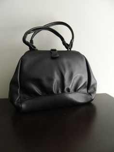 Vintage Black Hobo Style Purse   1960s by VintageBaublesnBits, $20.00