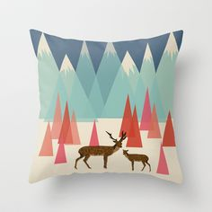 Climb Every Mountain Throw Pillow by Andrea Lauren - $20.00