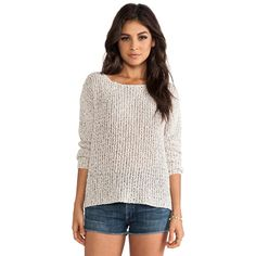Joie Esther Textural Open Stitch Pullover