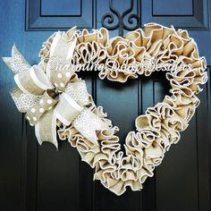READY TO SHIP Valentine's Day Wreath by CharmingDoorDesigns