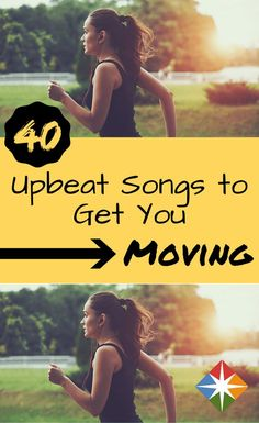 40 Upbeat Songs to Make Your Workout Fly By It's no secret that music can help get you moving and going during whatever exercise session you are doing! Here are 40 upbeat songs to add to your workout playlist! Sport Fitness, Fitness Tips, Fitness Motivation, Fitness Music, Fitness Gear, Physical Fitness, Upbeat Songs, Music Songs, Running Music