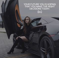 Your future you is hoping you make the right decision today. Famous Motivational Quotes, Inspirational Qoutes, Motivational Thoughts, Uplifting Quotes, Meaningful Quotes, Classy Girl Quotes, Girly Quotes, Citations Chic, Wisdom Quotes