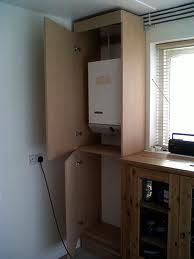 boiler cupboard - Google Search Kitchen Interior, Kitchen Decor, Kitchen Ideas, Tall Cabinet Storage, Locker Storage, Gas Boiler, Laundry Closet, Laundry Room, Downstairs Loo