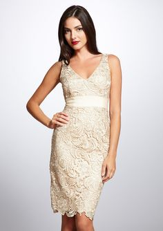 After looking around for a cream colored bridesmaid dress for a friend, I think this would be a beautiful one to wear.  And wear again.