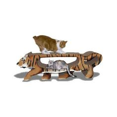 Scratch 'n Shapes GIANT Tiger Scratcher - BD Luxe Dogs & Supplies - 1