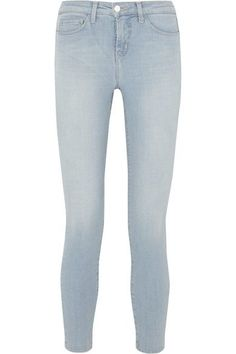 L'Agence - The Margot Cropped High-rise Skinny Jeans - Light denim - 27