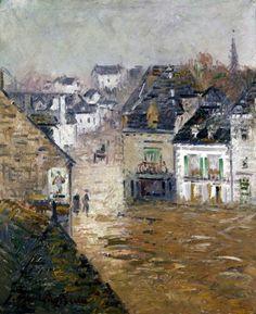 Light Rain Pont Aven - Gustave Loiseau 1922  French 1865-1935  impressionism