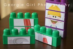 Tape on puzzle pieces to mega blocks. It's easy for the little kids to put together and you won't need laminate the puzzle.