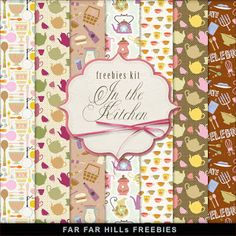 """New Freebies Kit of Paper - """"In the kitchen"""""""