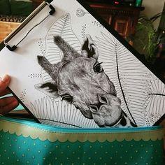 Illustration Girafe (Projet en cours)