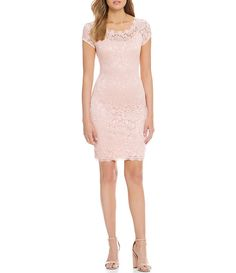 eb2c30b6996 Sequin Hearts Cap Sleeve Sequin Lace Sheath Dress