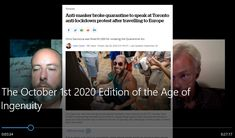 """RONA News, Analysis, """"Casedemics,"""" Chris Sky and an Interview with Pastor Henry Hildebrandt, the minister who gave such a great speech at Dundas Square on September 26th: The October 1st, 2020 Age of Ingenuity is now online..."""