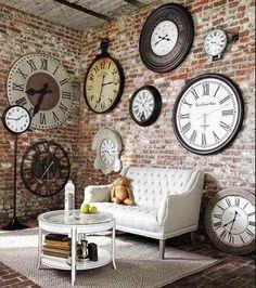 UN TOQUE VINTAGE: Decorar con relojes de estilo vintage