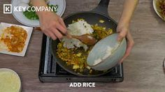 Who doesn't love Bacon Kimchi Fried Rice. This PN Diamond Coated Frying Pan is the perfect pan to make this delicious dish or any kind of fried rice. Key Company, Kimchi Fried Rice, Asian Market, Griddle Pan, Recipe Using, Tasty Dishes, Bacon, Breakfast, Recipes