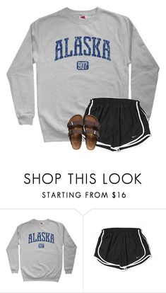 """""""Sooooo sore"""" by southerngirl03 ❤ liked on Polyvore featuring NIKE and Birkenstock"""