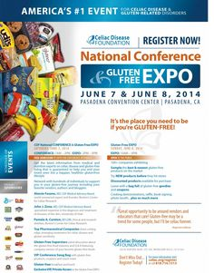 Celiac Disease Foundation 2014 Conference and Expo This June in Pasadena, CA! #expo #glutenfree #celiac #celiacdisease @Celiac Disease Foundation
