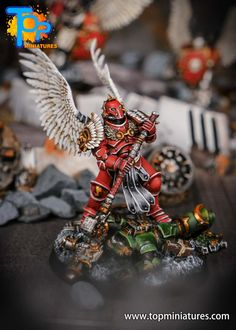 Blood Angels converted Smash Captain - Warhammer 40k Painted Warhammer 40k Blood Angels, Warhammer 40k Memes, Warhammer Models, The Grim, Space Marine, Angles, Sci Fi, Miniatures, Fantasy