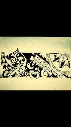 Psycho Maori bracelet mask half happy half sad #maoritattoosbracelet