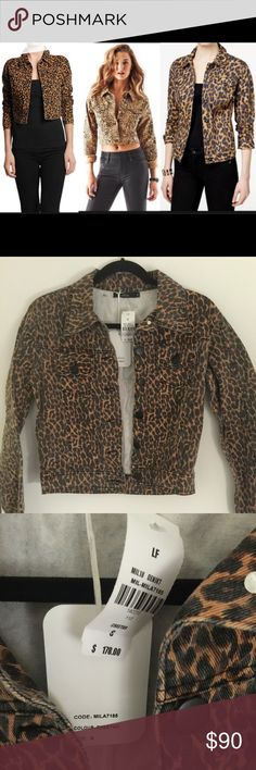 NWT LF MILLAU LEOPARD DENIM JACKET - S NWT LF MILLAU LEOPARD DENIM JACKET - S. Brand NWT. Retail: $178 / Merc - $80. This is the perfect unique piece to add to your closet ASAP! The patterned denim allows this adorable and chic jacket to be worn with black or regular denim. Also super cute with high waisted jeans. LF Jackets & Coats