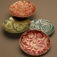 L'Objet Fortuny Porzellan | Artedona.com coffee plates, cups, saucers and nibbles platters and 3 tiered stand