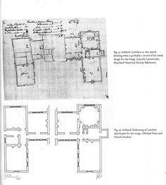 Benjamin Latrobe's sketch for the original Ashland house - Ashland, The Henry Clay Estate - Lexington, KY