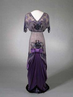 Evening Dress of Queen Maud of Norway, 1910-13