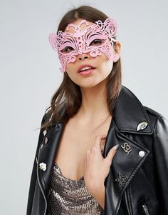 ASOS Pink Festival Mask - Pink