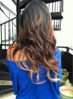 blue top, light ombre - Hairstyles and Beauty Tips