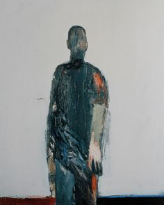 "1. Nathan Oliveira, ""Man Walking,"" 1958, oil on canvas, 60 1/2 x 48 1/8in"
