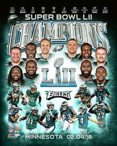 Philadelphia Eagles Super Bowl Lii Champions Photo Ux210 (Select Size)