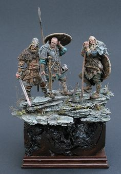 Vikings by Michael Volquarts · Putty&Paint Viking Art, Viking Warrior, Samurai Warrior, Military Figures, Military Diorama, Vikings, 3d Figures, Modelos 3d, Military Modelling