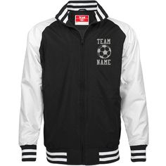 Personalized Soccer Coach Unisex Team Jacket | Available in other styles & colors.