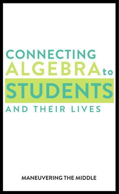 Making Algebra Relevant Do you want your students to find math (specifically Algebra) relevant to their lives? Check out some ways to make this happen. Math Teacher, Math Classroom, Teaching Math, Teacher Stuff, Math Skills, Math Lessons, Math Resources, Math Activities, Common Core Math Standards