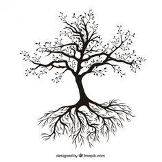 Árvore com raizes Vetor grátis