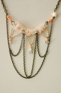 """Maddox and Klaus """"Tangled Web"""" necklace $85.00 #necklace, #jewelry, #beading, #bead, #special occasion"""