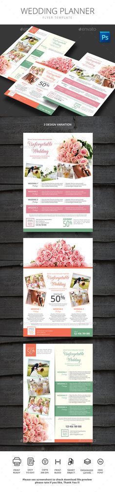 Wedding Planner — Photoshop PSD #shoot #married • Available here → https://graphicriver.net/item/wedding-planner-/16134975?ref=pxcr