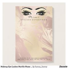 Makeup Eye Lashes Marble Name Web Telephone Number Post-it Notes