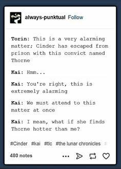 Kai has his priorities straight