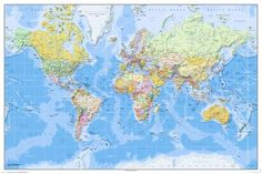 Maailman kartta - 2011 Englanti Juliste