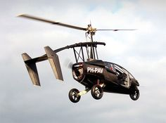 "Dutch company PAL-V announced the first flights of its prototype ""flying car"". This unique vehicle is called the PAL-V One, or the 'Personal Air and Land Vehicle', and It marks the start of a new era. On the ground the vehicle drives like a sports car. Within minutes its rotor is unfolded and its tail is extended: then it is ready to take off thanks to the advanced gyrocopter technology."