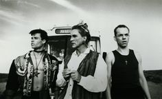 The Adventures of Priscilla Queen of the Desert. Guy Pearce, Terence Stamp, and Hugo Weaving in their finest forms.