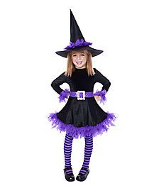 Purple Shredded Witch Child Costume - Did you know the cutest witches are often the most powerful? Work your magic on Halloween wearing this Purple Shredded ...  sc 1 st  Pinterest & Costumes u003eu003e Toddler Witch Costume u003eu003e Charmed Cute Witch Kids Costume ...