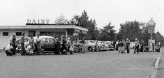 1954 - Austin Indiana Dairy Queen - The people are strikers from Morgan Packing Company.