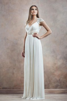 Take a look at the dreamy new wedding dress collection from Divine Atelier, filled with unique wedding dresses and eclectic styles. Greek Wedding Dresses, Wedding Dresses 2014, Wedding Gowns, Bridesmaid Dresses, Bridal Musings, Mod Wedding, Wedding Bride, Wedding Ceremony, Bridal Collection
